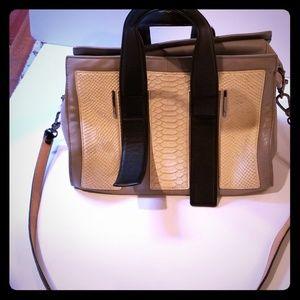 Leisdotter Grey and python shoulder bag
